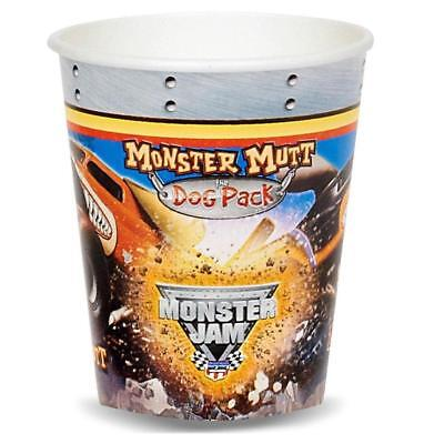 Monster Truck Jam Paper Cups 8 Per Package Birthday Party Supplies New ()
