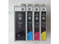 5x GENUINE EPSON T0431, T0442, T0443 & T0444 INK CARTRIDGES in SEALED PACKAGING £14.50