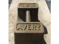 Vintage Cast Iron 56lb Avery Scales Weight - Patio Garden Stall holder Decorative Doorstop