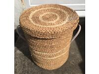 SMALL LAUNDRY WICKER BASKET