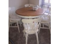 Shabby Chic Table And Chairs