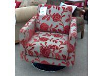 Contemporary swivel armchair
