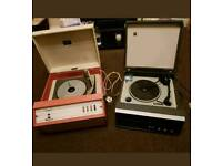 vintage record players Dansette & BUSH BSR both need repairing