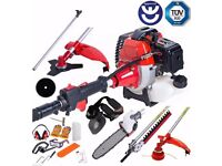 Dealourus 52cc Petrol 5 in 1 Garden Multi Tool Hedge trimmer Strimmer Chainsaw