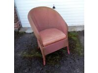 Sturdy Vintage Lloyd Loom Armchair