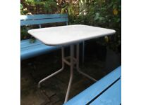 FERMOB 'Petale' Folding French Table Cafe Garden Furniture 60 x 70cm VGC 2 Available Luxembourg