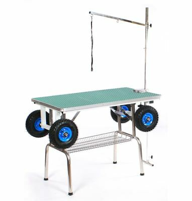 Pedigroom professional dog grooming portable show trolley table with wheels