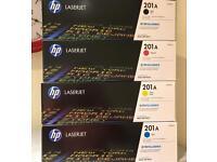 Genuine HP Toner - HP 201A B/C/M/Y