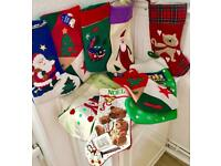 Assortment of 12 Christmas Stockings. 50p Each.