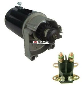 STARTER & SOLENOID FOR BRIGGS STRATTON 14HP 16HP 18HP STARTER 497596 V TWIN