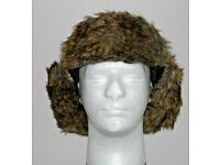 WINTER WARMERS BLACK ICE TRAPPER HAT ADULT DESIGNER ONE SIZE BNWT EAR.*