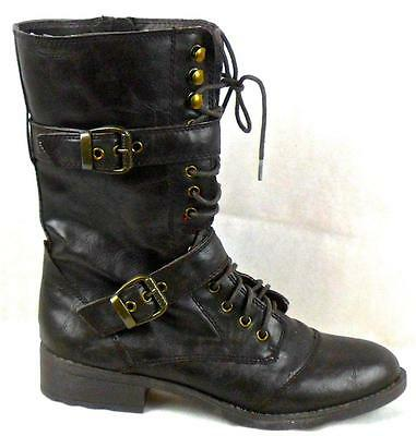 New Authentic Guess Short Boots By Marciano Better Dar Brown Faux Leather Size (Best Short Boots)