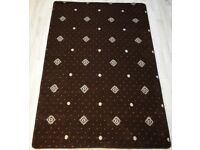Hilton Woven And Hand Carved Brown Rug 240 x 150 cm 100% Polypropylene