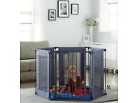Lindam soft fabric play pen/guard/gate - BRAND NEW in box