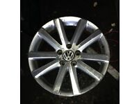 "VW Passat MK7 7.5 J X 17"" ET47 10 Spoke Alloy Wheel 3C0 601 025 J Set of 2"