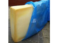 foam mattress which has internal springs, no cover. Single bed size 190 x 90cm. In good condition.