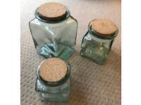 Habitat glass kitchen jars
