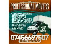 Man and big van hire. House move, garden waste rubble or hedge and tree removal
