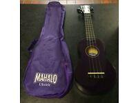 Mahalo Purple Ukulele With Bag