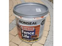 Ronseal Fence Life Red Cedar - 9 litre container (some used)