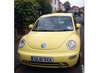 Volkswagen Beetle 2.0L Petrol 3DR Hatchback 2001 Yellow