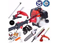 52cc Petrol 5 in 1 Garden Multi Tool Hedge trimmer Strimmer Chainsaw
