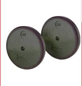 2 x menshealth weight plates (New)