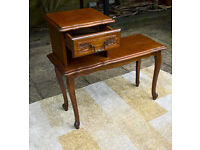 A Vintage French Telephone Table