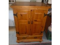 Lovely Big Pine Cabinet / Cupboard. TV Stand