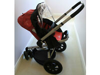 Quinny buzz baby stroller and maxi cosi baby car seat with ISOFIX base