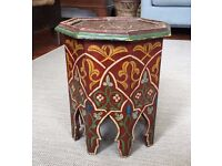 Small hand painted Moroccan tea table
