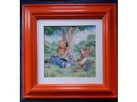 """Winnie The Pooh Picture ~ Chalk Painted Pine Frame 42cm (16.5"""")"""
