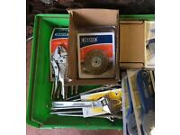 Job Lot Draper Tools, Cutter, Pliers, Adjustable Wrench, Wire Brush, Package Cutter