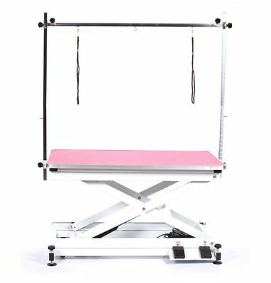 Pedigroom professional electric dog pet grooming table with H frame bar pink