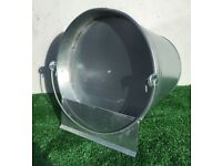 NEW CHICKEN POULTRY GALVANISED METAL DRINKING BUCKET 2 GALLON WITH HANDLE MARKED/ SCRATCHED