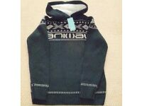 BNWT mens Animal knitted hoodie jumper - size S