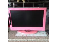 "22"" bright pink digihome Tv DVD player in excellent condition"