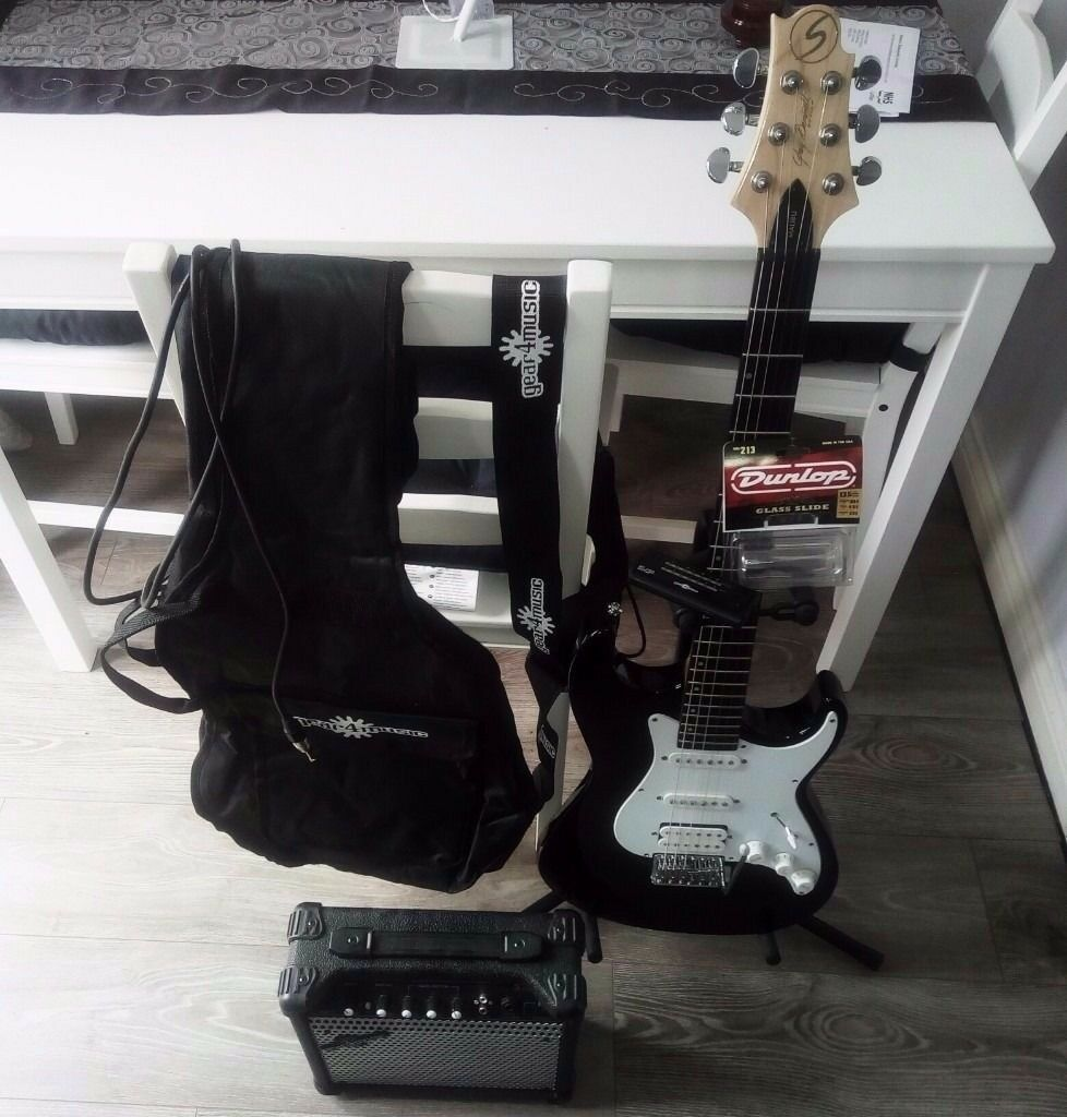 43884e431911 Brand new electric guitar and amp plus tuner extras. Greg Bennett MB-2 +amp  and extras. £69.99 ono