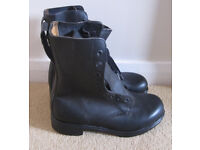 Army Surplus Brand New 258 L (UK7.5 Wide) High Leg Boots - Leather Uppers