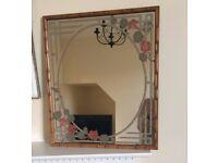 Vintage 1970s Hand Printed Braddell Enterprises Mirror