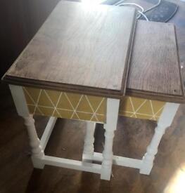 Retro upcycled 2x nest of tables/side tables