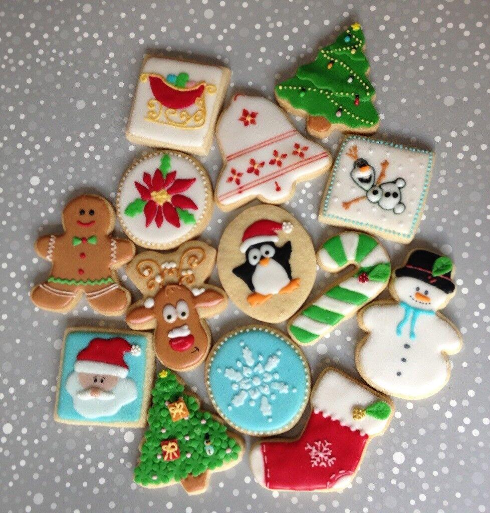decorated cookies christmas wedding baby shower superhero princess peppa pig