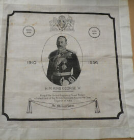 King George V Memorial Handkerchief