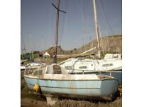 ☆☆☆ LOWER PRICE ☆☆☆ PROJECT YACHT FREE MOORING IN WESTEN SUPER MARE £100