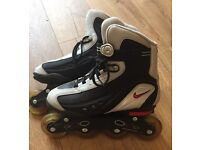 Like new Nike inline skates size 8