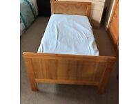 Pine wood cot bed