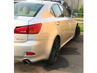Lexus Is250 cream leather eibach springs and power flow exhaust