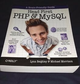 Head First PHP & MySQL: A Brain-Friendly Guide Programming BOOK University Website Coding