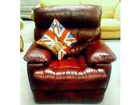 Top quality real leather electric Recliner chair in vgc can arrange del