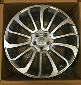 """Range Rover Alloys 22"""" Turbine Style Fits Vogue Sport Discovery Hyper Silver"""